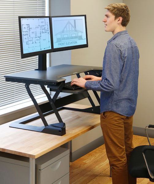 Workfit Tl Large Sit To Stand Desktop Workstation Black